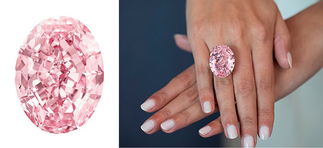 59,6 ct + Fancy Vivid Pink + Internally Flawless = Pink Star